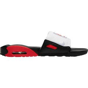ナイキ Nike メンズ サンダル エアマックス 90 シューズ・靴【Air Max 90 Slides】Black/Chile Red/White