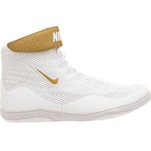 ナイキ Nike メンズ レスリング シューズ・靴【Inflict 3 Wrestling Shoes】White/Gold