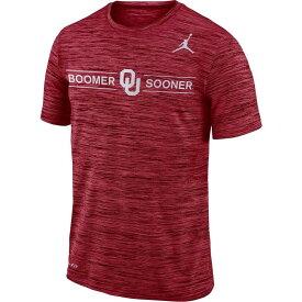 ナイキ ジョーダン Jordan メンズ アメリカンフットボール Tシャツ トップス【Oklahoma Sooners Crimson Velocity Boomer Sooner' Football T-Shirt】