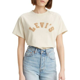 リーバイス LEVI'S レディース Tシャツ トップス【Levi's Graphic Varsity T-Shirt】Almond Milk