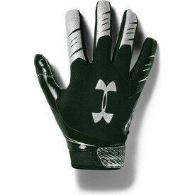 アンダーアーマー Under Armour ユニセックス アメリカンフットボール レシーバーグローブ グローブ【Adult F7 Football Receiver Gloves】Forest Green/Silver