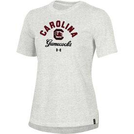 アンダーアーマー Under Armour レディース Tシャツ トップス【South Carolina Gamecocks Grey Performance Cotton T-Shirt】