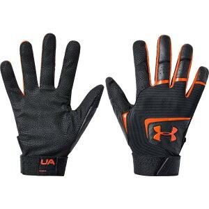 アンダーアーマー Under Armour ユニセックス 野球 バッティンググローブ グローブ【Adult Clean Up Batting Gloves 2020】Black/Orange