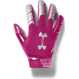 アンダーアーマー Under Armour ユニセックス アメリカンフットボール レシーバーグローブ グローブ【Adult F7 Football Receiver Gloves】Pink/Silver