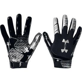 アンダーアーマー Under Armour ユニセックス アメリカンフットボール レシーバーグローブ グローブ【Adult F7 Football Receiver Gloves】Black/Silver
