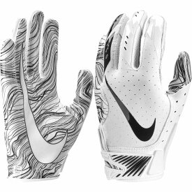 ナイキ Nike ユニセックス アメリカンフットボール レシーバーグローブ グローブ【Adult Vapor Jet 5.0 Receiver Gloves】White/Black