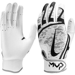 ナイキ Nike レディース 野球 バッティンググローブ グローブ【Hyperdiamond Edge Batting Gloves】White/Black