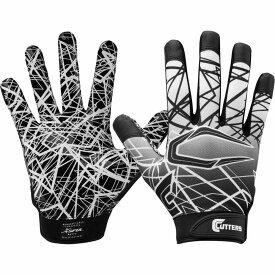 カッターズ Cutters Gloves ユニセックス アメリカンフットボール レシーバーグローブ グローブ【Cutters Adult Game Day Receiver Gloves】Black