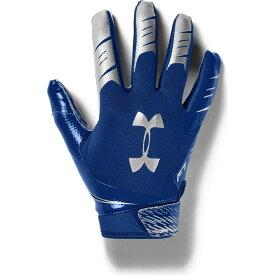 アンダーアーマー Under Armour ユニセックス アメリカンフットボール レシーバーグローブ グローブ【Adult F7 Football Receiver Gloves】Royal/Silver
