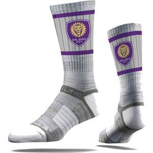 ストライドライン Strideline ユニセックス サッカー 【Orlando City Gray Crew Socks】