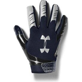 アンダーアーマー Under Armour ユニセックス アメリカンフットボール レシーバーグローブ グローブ【Adult F7 Football Receiver Gloves】Navy/Silver
