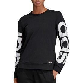 アディダス adidas レディース スウェット・トレーナー トップス【Essentials Brand Sweatshirt】Black/White