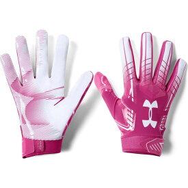アンダーアーマー Under Armour ユニセックス アメリカンフットボール レシーバーグローブ グローブ【Adult F6 Receiver Gloves】Pink/White