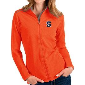 アンティグア Antigua レディース ジャケット アウター【Syracuse Orange Orange Glacier Full-Zip Jacket】