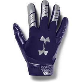 アンダーアーマー Under Armour ユニセックス アメリカンフットボール レシーバーグローブ グローブ【Adult F7 Football Receiver Gloves】Purple/Silver