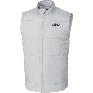 カッター&バック Cutter & Buck メンズ ベスト・ジレ トップス【LSU Tigers Grey Stealth Full-Zip Vest】