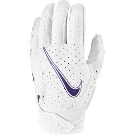 ナイキ Nike ユニセックス アメリカンフットボール レシーバーグローブ グローブ【Adult Vapor Jet 6.0 Receiver Gloves】White/White/Court Purple