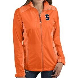アンティグア Antigua レディース ジャケット アウター【Syracuse Orange Orange Revolve Full-Zip Jacket】