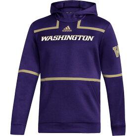 アディダス adidas メンズ パーカー トップス【Washington Huskies Purple Under The Lights Sideline Pullover Hoodie】