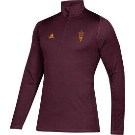アディダス adidas メンズ トップス ハーフジップ【Arizona State Sun Devils Maroon Free Lift Quarter-Zip Shirt】