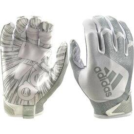 アディダス adidas ユニセックス アメリカンフットボール レシーバーグローブ グローブ【Adult ScorchLight 5.0 Receiver Gloves】White/Silver