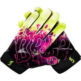 アンダーアーマー Under Armour ユニセックス アメリカンフットボール レシーバーグローブ グローブ【Adult Spotlight NFL Receiver Gloves】Black/Pink/Yellow