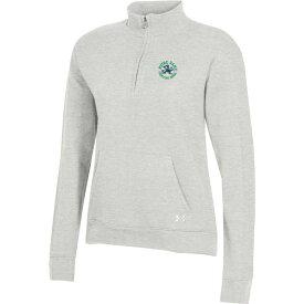 アンダーアーマー Under Armour レディース トップス 【Notre Dame Fighting Irish Grey All Day Quarter-Zip Shirt】