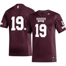 アディダス adidas メンズ トップス 【Mississippi State Bulldogs #19 Maroon Replica Football Jersey】