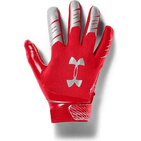 アンダーアーマー Under Armour ユニセックス アメリカンフットボール レシーバーグローブ グローブ【Adult F7 Football Receiver Gloves】Red/Silver