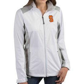 アンティグア Antigua レディース ジャケット アウター【Syracuse Orange Revolve Full-Zip White Jacket】