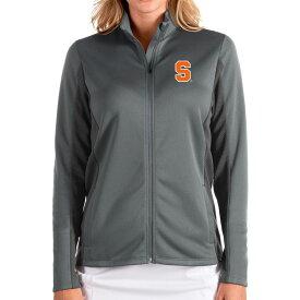 アンティグア Antigua レディース ジャケット アウター【Syracuse Orange Grey Passage Full-Zip Jacket】