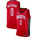 ナイキ Nike メンズ バスケットボール ドライフィット トップス【Houston Rockets Russell Westbrook #0 Red Dri-FIT …