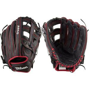 ウィルソン Wilson ユニセックス 野球 グローブ【13'' A950 Series Slow Pitch Glove】Black/Red