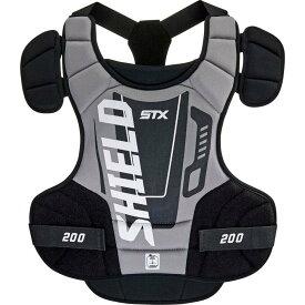 エスティーエックス STX メンズ ラクロス プロテクター【Boys' Shield 200 Lacrosse Goalie Chest Protector】Black/Grey