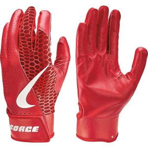 ナイキ Nike ユニセックス 野球 バッティンググローブ グローブ【Adult Force Edge Batting Gloves】University Red