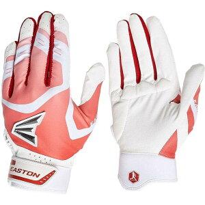 イーストン Easton Sports レディース 野球 バッティンググローブ グローブ【Easton Gametime Elite Fastpitch Batting Gloves】White/Red