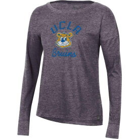 アンダーアーマー Under Armour レディース 長袖Tシャツ トップス【UCLA Bruins Grey Performance Cotton Long Sleeve T-Shirt】
