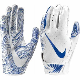 ナイキ Nike ユニセックス アメリカンフットボール レシーバーグローブ グローブ【Adult Vapor Jet 5.0 Receiver Gloves】White/Royal