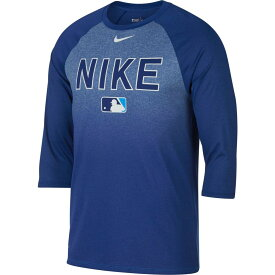ナイキ Nike メンズ 野球 七分袖 ラグラン トップス【Legend Raglan 3/4-Sleeve Baseball Shirt】Royal