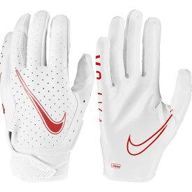 ナイキ Nike ユニセックス アメリカンフットボール レシーバーグローブ グローブ【Adult Vapor Jet 6.0 Receiver Gloves】White/White/University Rd