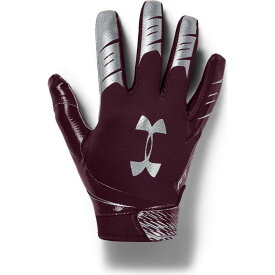 アンダーアーマー Under Armour ユニセックス アメリカンフットボール レシーバーグローブ グローブ【Adult F7 Football Receiver Gloves】Maroon/Silver