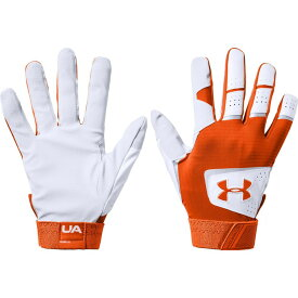 アンダーアーマー Under Armour ユニセックス 野球 バッティンググローブ グローブ【Adult Clean Up Batting Gloves 2020】White/Orange