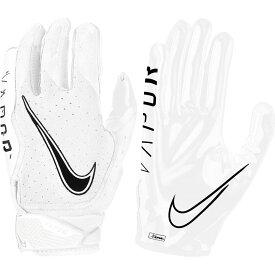 ナイキ Nike ユニセックス アメリカンフットボール レシーバーグローブ グローブ【Adult Vapor Jet 6.0 Receiver Gloves】White/White/Black