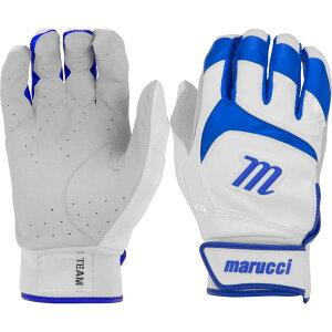 マルッチ Marucci ユニセックス 野球 バッティンググローブ グローブ【Adult Signature Series Batting Gloves】White/Royal