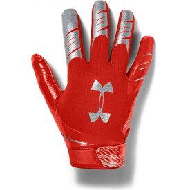 アンダーアーマー Under Armour ユニセックス アメリカンフットボール レシーバーグローブ グローブ【Adult F7 Football Receiver Gloves】Orange/Silver
