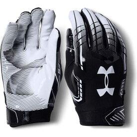 アンダーアーマー Under Armour ユニセックス アメリカンフットボール レシーバーグローブ グローブ【Adult F6 Receiver Gloves】Black/White