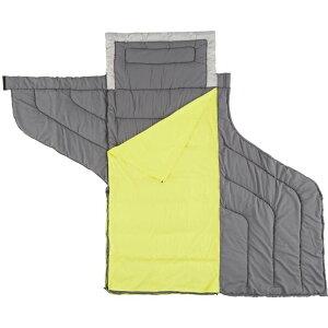 コールマン Coleman ユニセックス ハイキング・登山 寝袋【Adult Adjustable Comfort Sleeping Bag】Grey/Lime