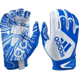 アディダス adidas ユニセックス アメリカンフットボール レシーバーグローブ グローブ【Adult ScorchLight 5.0 Receiver Gloves】White/Royal