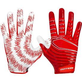 カッターズ Cutters Gloves ユニセックス アメリカンフットボール レシーバーグローブ グローブ【Cutters Adult Rev 3.0 Receiver Gloves】Red
