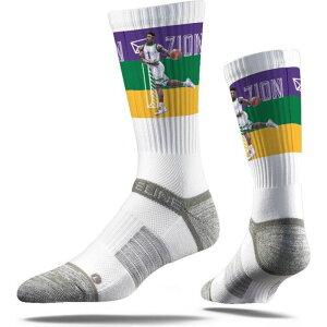 ストライドライン Strideline ユニセックス ソックス インナー・下着【New Orleans Pelicans Zion Williamson Dunk White Crew Socks】